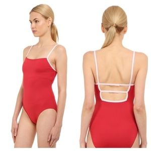 Kate Spade Dive Right In Red Swimsuit NWOT
